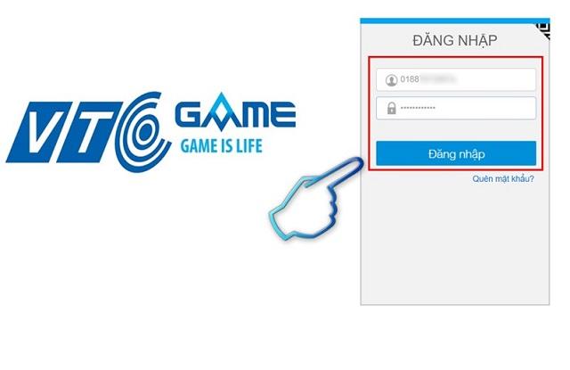 Truy cập trang chủ VTC và tiến hành đăng nhập tài khoản
