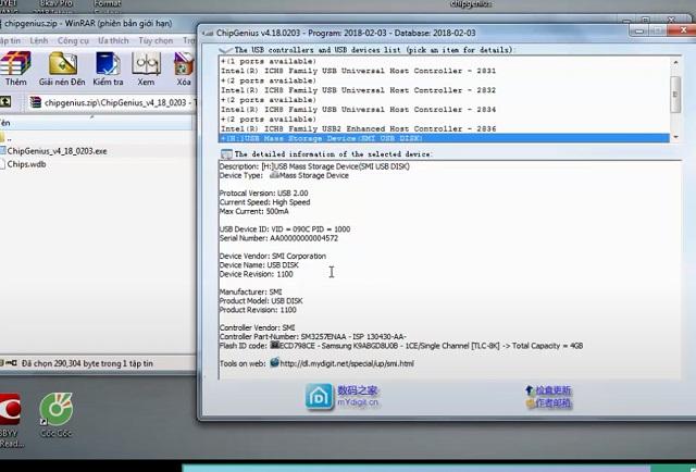 Tiến hành thao tác nạp lại Firmware cho USB