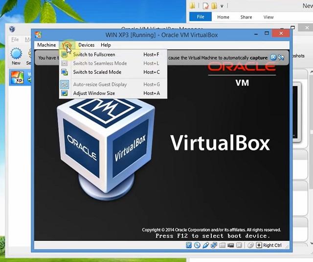 Khởi động máy ảo Oracle VM Virtualbox