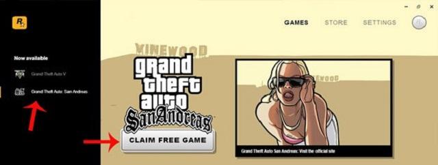 Chọn Claim Free Game tại giao diện chính
