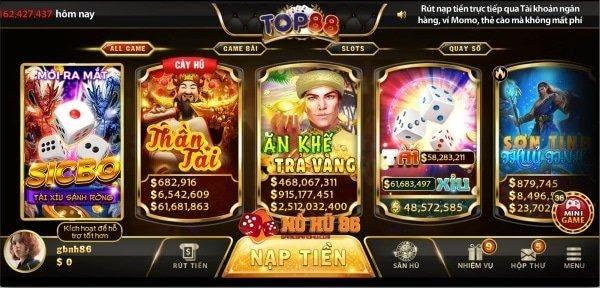 Top 88 – Siêu phẩm game đổi thưởng hàng đầu khu vực